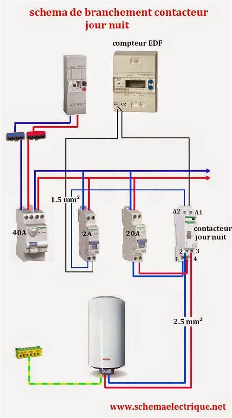 branchement electrique cuisine schéma electrique contacteur jour nuit branchement d