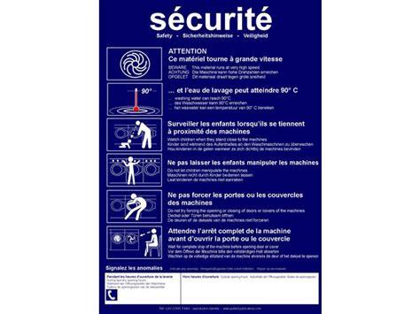 bureau atelier consignes de securite pour laverie automatique contact