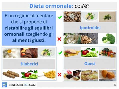 dieta ormonale alimentazione  menu  riattivare il