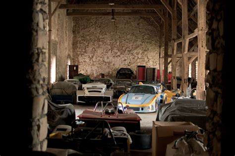 vintage racing car collection   small french village