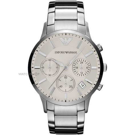 Men's Emporio Armani Chronograph Watch (ar2458)  Watch. Hunting Wedding Rings. Ring Lockets. Simple Bands. 300m Watches. Charlotte Chesnais Earrings. Law Enforcement Bracelet. Allergy Bracelet. Bracelet Bands