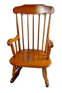 vintage ethan allen rocking chair for child doll or
