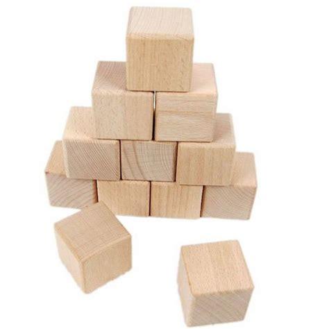 Cube En Bois 20 Pcs Lote 4 Cm Bois Cube Solides Blocs De Construction En Bois Jouets 233 Ducatifs Pr 233 Coce