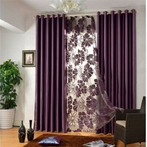 modern   funky window curtains  purple