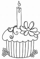 Cupcake Clipart Candle Cliparts Coloring Pages Drawing Cookie Attribution Forget Link Don sketch template