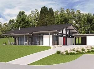 Fertighaus Holz Bungalow : huf haus bungalow modernes fertighaus aus holz und glas huf ebenfalls grau garten dekor ideen ~ Orissabook.com Haus und Dekorationen