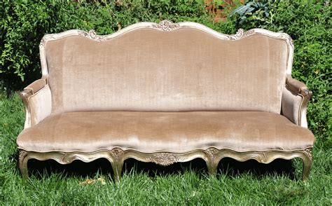 Our Beige And Gold Sofa