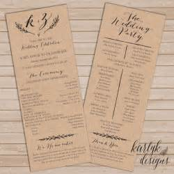 rustic wedding program templates best 25 wedding programs ideas on ceremony