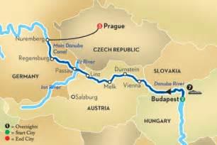 Blue Danube River Map