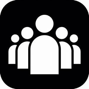 Group of people in white a black rounded square Icons ...