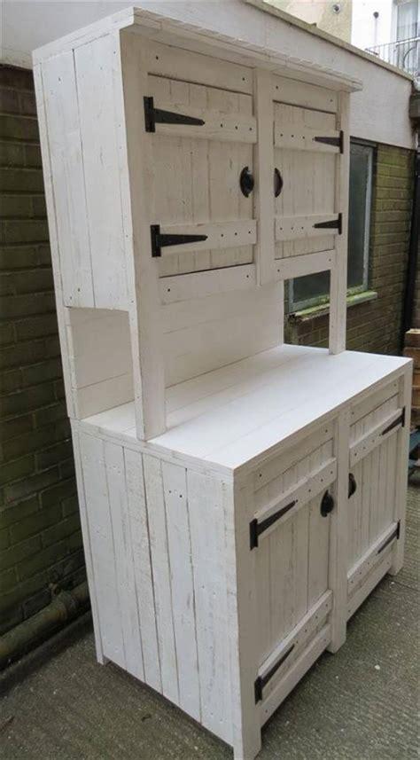 kitchen storage cabinet pallet kitchen cabinets hutch 99 pallets Diy