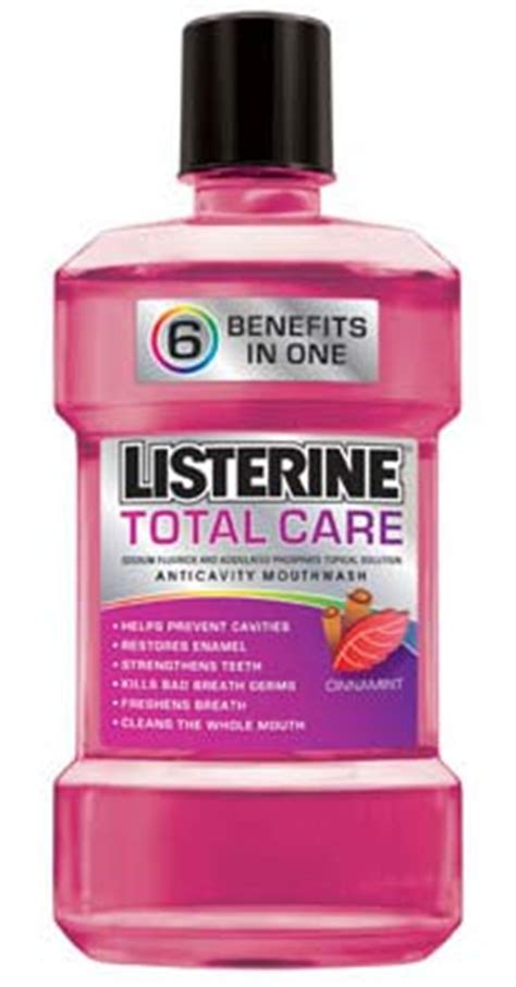 Is Listerine Like Floor Cleaner by Listerine Total Care Anticavity Mouthwash