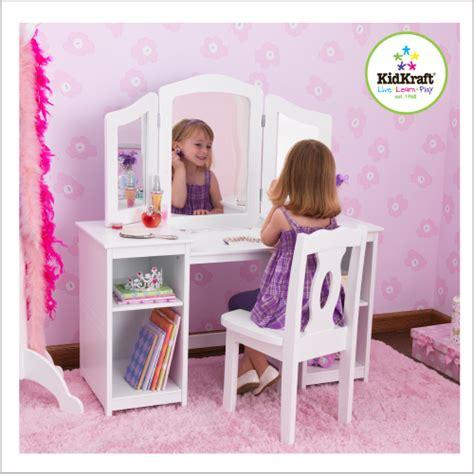 bureau coiffeuse fille decoration chambre princesse