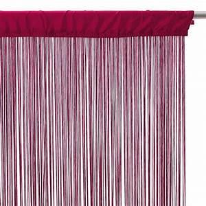 Fil Tringle Rideau : rideau de fil 90 x h200 cm uni framboise rideau et ~ Premium-room.com Idées de Décoration