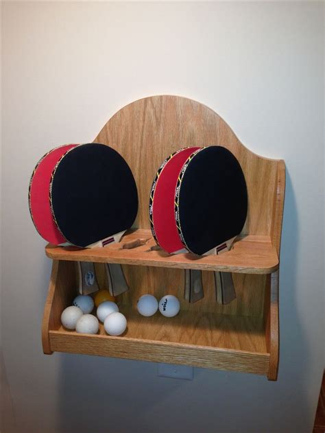 custom ping pong paddle shelf stuff  dad builds