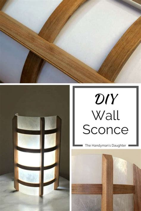 diy wooden wall sconce  handymans daughter