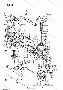 Suzuki Motorcycle 1985 Oem Parts Diagram For Carburetor