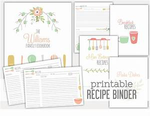 8 best images of recipe book dividers free printables With free recipe templates for binders