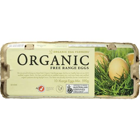 organic eggs organic egg farmers organic free range eggs 10pk 590g woolworths