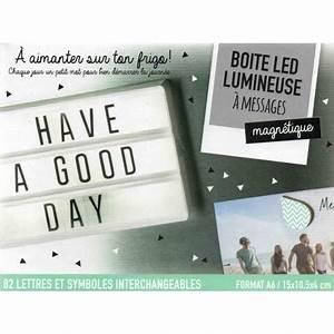 Boite Lumineuse Lettre : toy bo te led lumineuse messages magn tique a6 82 lettres et symb ~ Teatrodelosmanantiales.com Idées de Décoration