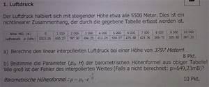 Luftdruck Berechnen : luftdruck aus tabelle berechnen mathelounge ~ Themetempest.com Abrechnung