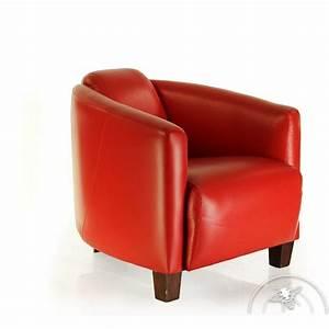 Fauteuil Cuir Rouge : fauteuil club cuir rouge op ra saulaie ~ Teatrodelosmanantiales.com Idées de Décoration
