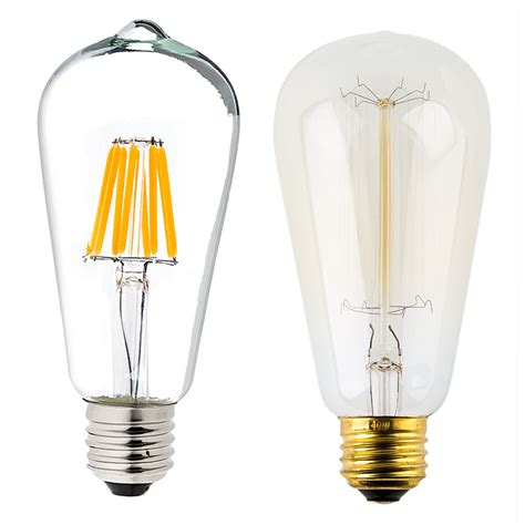 st18 led filament bulb 70 watt equivalent led vintage