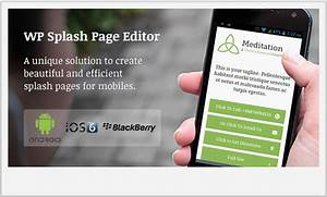 Top 15 wordpress mobile plugins wp template for Wordpress splash page template