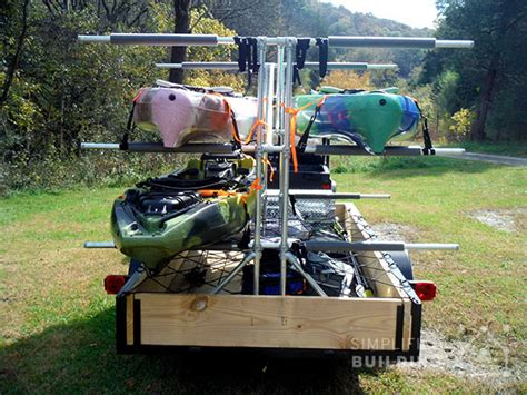 kayak rack for trailer build your own kayak trailer utility trailer conversion