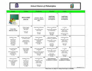 School Breakfast and Lunch Menus