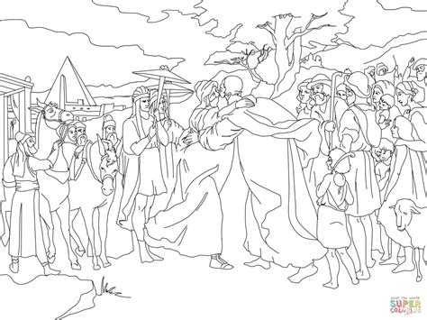 joseph forgives  brothers coloring pages coloring home