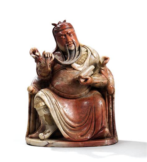 Large Soapstone by A Large Soapstone Figure Of Guandi Kangxi Period 1662