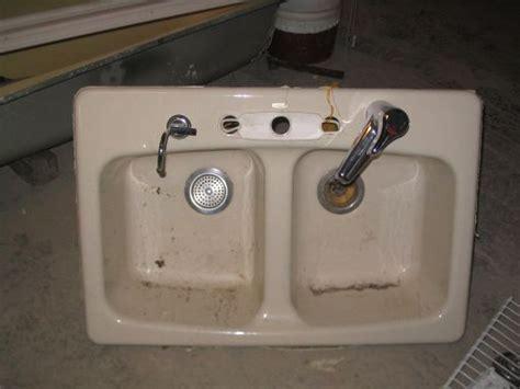 sink in the kitchen sink ceramic gagnon demolition 5282