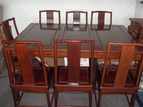 rosewood dining room table with 8 chairs cleveland 44113