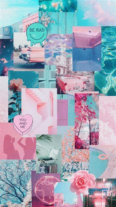 ide keren pastel pink  blue aesthetic wallpaper
