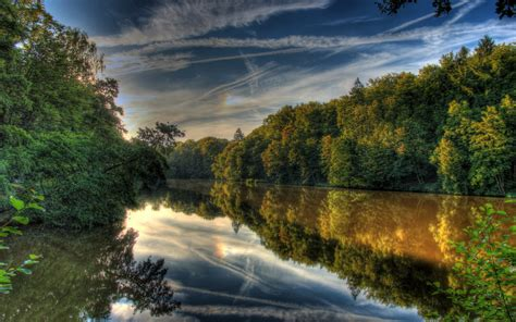 river   sunset    nature photography