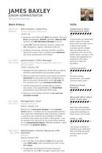 data entry resume sles visualcv resume sles database