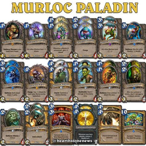 Paladin Murloc Deck Kft by 17 Best Images About Hearthstone On