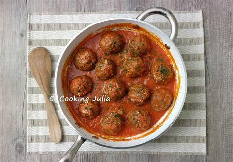 boulettes de viande sauce tomate cuisine italienne cooking boulettes de viande à l 39 italienne