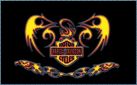 View Of Harley Davidson Fire Wallpaper Wallpapers