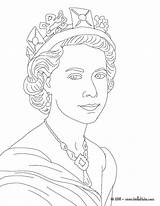 Queen Elizabeth Ii Coloring Colouring Drawing Easy Hellokids Printable Victoria Sheets African Sketch British Princess King England Adult Princes Kings sketch template