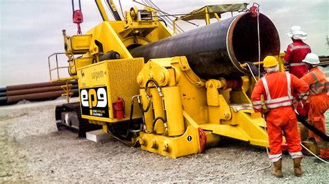 pipe bending machine pbm    working  georgia europipeline equipment spa