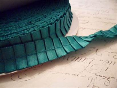 Trim Pleated Ribbon Trims Satin Garment Teal