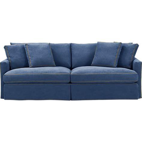 denim sofa lounge 93 quot slipcovered sofa