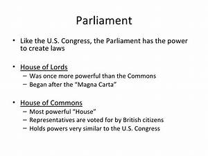 Lesson 15 British And American Governments