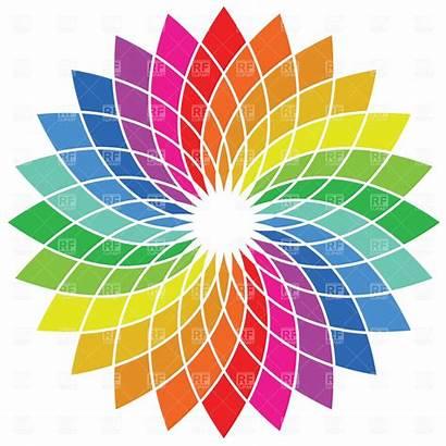 Wheel Clipart Colour Vector Colours Spectrum Palette