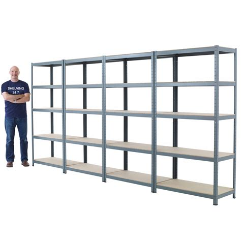 New 5 Shelf Metal Shelving 71hx36wx24d Steel Garage