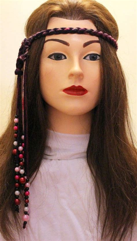 60s Headband Hairstyles by 60 S Adjustable Hippie Headband With Hanging