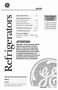 Ge Gmr04banebb Owner U0026 39 S Manual  U0026 Installation Instructions
