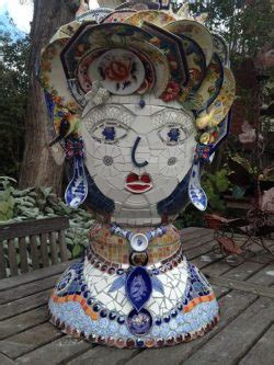 mosaic face  pot httplometscom